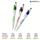 European Design Pen with 3 Ink Colors & Stylus