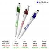 European Design Pen with 3 Ink Colors & Stylus
